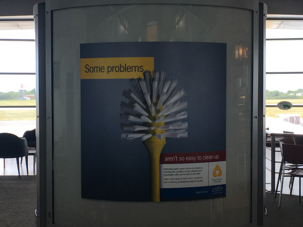 Airport Advert - Some Problems aren't so easy to clean up